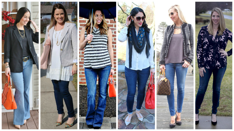 how to style jeans for casual friday
