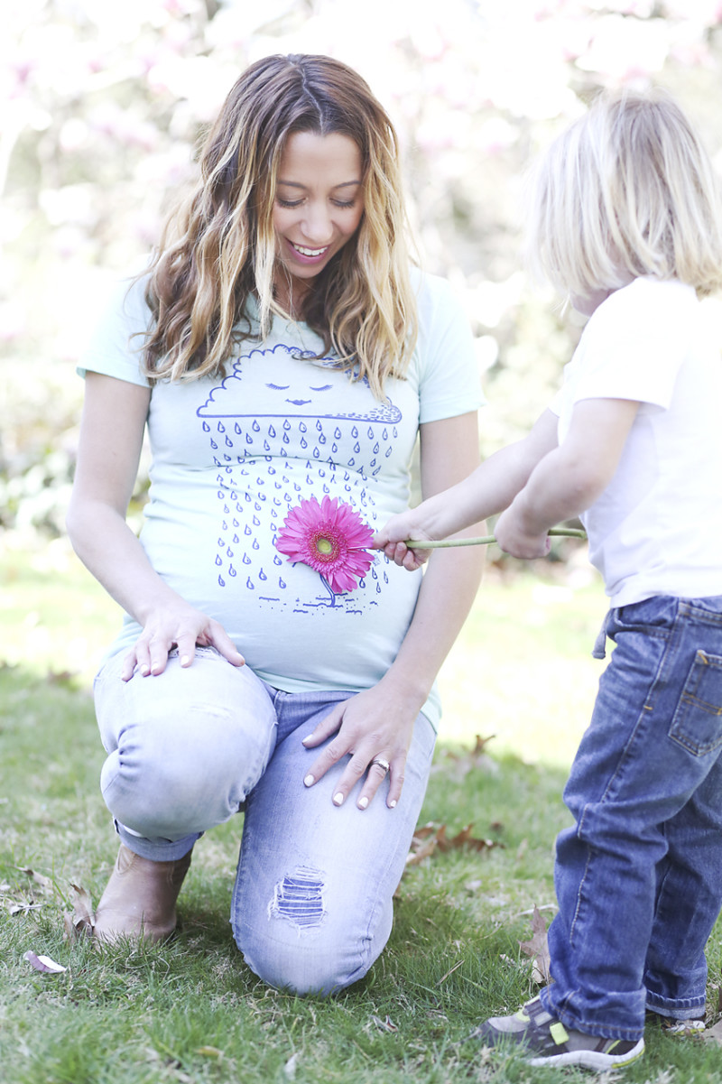 maternity graphic tee: discobelly maternity shirt