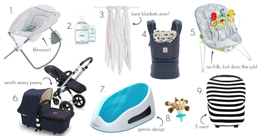 newborn essentials, baby gear, 0-3 months
